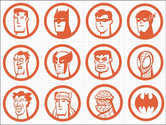 iconos super heroes