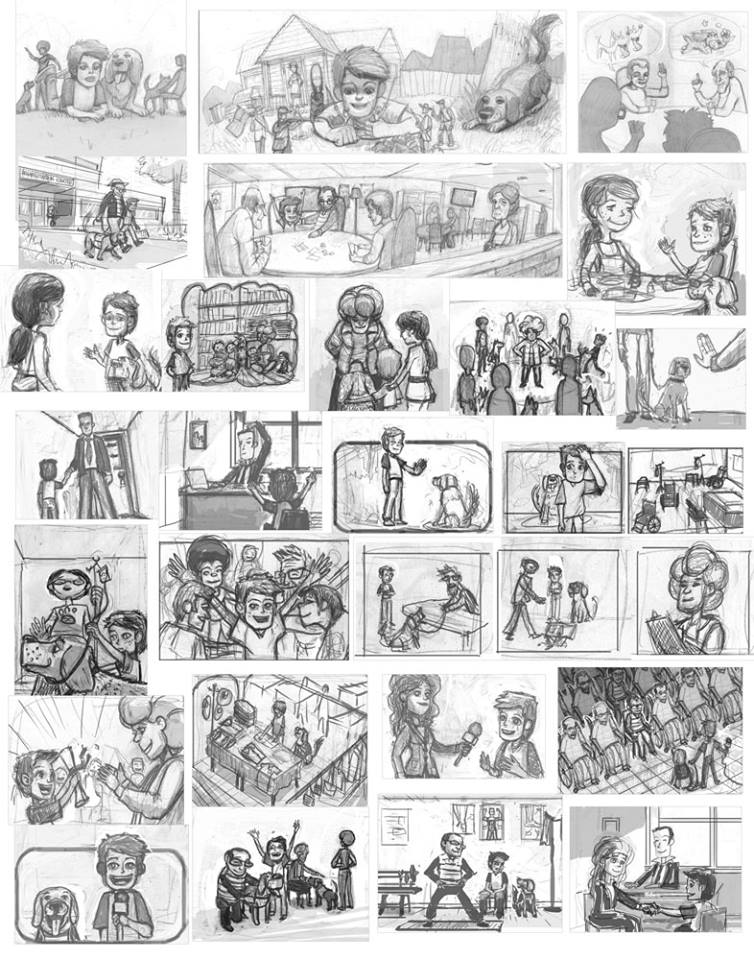 páginas internas bocetos